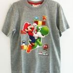 Official Nintendo Seal (งานแท้) เสื้อยืดสีเทาสกรีนตัว Mario ขี่ไนโดเสาร์ Yoshi ผ้าดี เนื้อนิ่ม ใส่สบายค่ะ size 7/8A