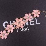 Sweet Pink Flower Bracelet สร้อยข้อมือออกงานรูปดอกไม้แต่งหินสีชมพูหวาน