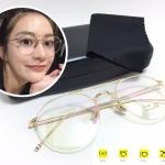 แว่นกันแดดแฟชั่น Gold Box Flat Light Microscopy 3326 52-23 150 <ทอง>