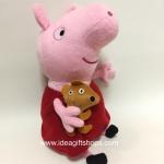 ตุ๊กตาหมู Peppa Pig ขนาด 10 นิ้ว ชุดแดง