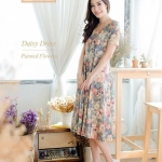 Gentle Painted Flower - Jersey Dress