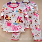 (เด็กเล็ก) ชุดนอนแขน-ขายาว ลายมินนี่&มิกกี้เม้าส์ Minnie&Mickey Mouse ผ้ายืดผสม cotton งานกุ๊นดี พิมพ์สวย ผ้าใส่สบายค่ะ size 1-4