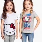H&M เสื้อยืดสีเทา Hello Kitty in Big Apple ผ้ายืดนิ่มๆ ใส่สบายค่ะ size 1-2, 2-4