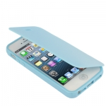 Case เคส Pure Color Smooth Surface Flip TPU iPhone 5 (Baby Blue)