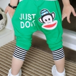 กางเกงสีเขียว ลายลิง ขนาด 100-140