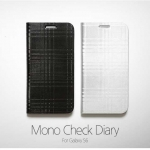 Zenus : Avoc Mono Check Diary Cover Case For Samsung Galaxy S6