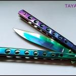 มีดควง บาลิซองเรนโบว์3 Balisong Rainbow3 TKBS-RB03