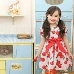 Amber Bear (made in Korea) ชุดกระโปรงผ้าคอตตอน ลายแอปเปิ้ล สีแดง สดใส น่าร๊ากสุดๆค่ะ คอนเฟิร์มจ้า size 5