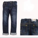 Kidsplanet (เด็กโต)-----กางเกงยีนส์สีเข้ม แต่งแบบผ้าขูดนิดๆ แอบเซอร์หน่อยๆ ปรับเอวได้ ทรงสวยค่ะ size 6, 7, 8