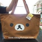 กระเป๋าสะพาย Rilakkuma ใบใหญ่ มีซิป ผ้าแคนวาส