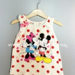 H&M---เสื้อกล้ามจุดแดง ลายมินนี่ เมาส์ Minnie Mouse ผ้านิ่มใส่สบาย เหมาะกับ summer นี้ค่ะ