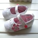 BE2037 (Pre) รองเท้าผ้า สาวน้อย (0-1 ขวบ)