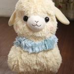 ตุ๊กตาอัลปาก้า Alpaca สีเหลือง สวมมงกุฎ ขนาดสูง 16 นิ้ว