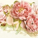 ลายดอกไม้ กระดาษแนปกิ้น เดคูพาจ 211253