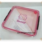 กล่องใส่อาหาร Hello Kitty ขนาดใหญ่ มีที่เปิดระบายอากาศ