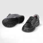 รองเท้านิรภัย หุ้มส้น หนังอัดลาย หัวเหล็ก ( Safety Shoes )