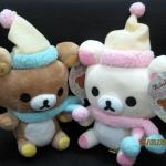 ตุ๊กตาน้องหมี Rilakkuma และ Korilakkuma ผูกผ้าพันคอ (ราคาต่อคู่ค่ะ)