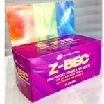 Z-BEC 60 เม็ด บำรุงสุขภาพท่านชาย เพิ่มจำนวนอสุจิได้มากขึ้น เสริมสร้างภูมิต้านทานร่างกาย