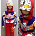 Ultraman Tiga (งานลิขสิทธิ์) ชุดแฟนซีเด็กอุลตร้าแมน ทีก้า 3 ชิ้น เสื้อ กางเกง & หน้ากาก ให้คุณหนูๆ ได้ใส่ตามจิตนาการ ผ้ามัน Polyester ใส่สบายค่ะ หรือจะใส่เป็นชุดนอนก็ได้ค่ะ size S, M, L, XL