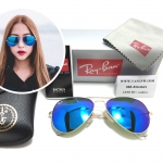 RB 3025 AVIATOR LARGE METAL 112/17 58-14 3N < ปรอทน้ำเงิน >