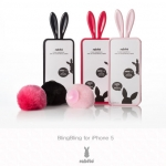 Rabito : Genuine Blingbling Bunny Rabbit Ear Case Cover for iPhone 5