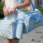 กระเป๋าคุณแม่ กระเป๋าสัมภาระลูกน้อย สีฟ้า