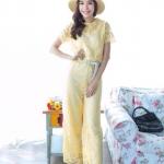 Elegant Lace Jumpsuit เหลือง