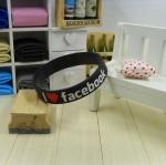 สายรัดข้อ Wristband ริสแบนด์ I Love Facebook สีดำ