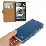Case เคส Adila Series Smooth Surface HTC One M7 (Blue)
