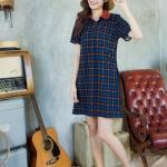 Classic Tartan Polo Dress สีกรมท่า