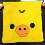 ถุงผ้าหูรูด ลาย Kiioritori ลูกเจี๊ยบ ขนาด 7x4นิ้ว (ซื้อ 12 ชิ้น ราคาส่งชิ้นละ 100 บาท)