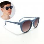 แว่นกันแดดแฟชั่น Topman Light Blue Matte Round Sunglasses 51-17-140 <ฟ้า>
