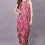 Allure Maxi Lace Dress ชมพู