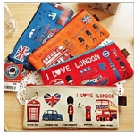 กระเป๋าใส่เครื่องเขียน ปากกา ดินสอ i love london (ซื้อ 12 ชิ้น ราคาส่ง 40 บาทต่อชิ้น)