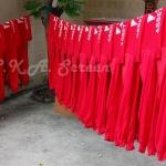 เสื้อคนงานก่อสร้าง สีแดง