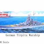 30CM Scale Warship World War II German TIRPITZ Battleship