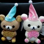 ตุ๊กตาน้องหมี Rilakkuma และ Korilakkuma ถือไพ่และคุ้กกี้ (ราคาต่อคู่คะ)