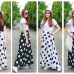 Polka Dot is Classic- Maxi Skirt