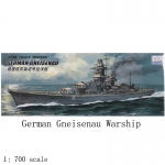 1/700 Scale World War II German SMS Gneisenau Battleship