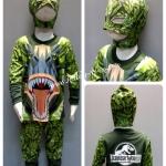 Dianosaur (Jurassic World) -- งานลิขสิทธิ์ ชุดแฟนซีเด็กไดโนเสาร์ จากจูราสสิค เวิลด์ ชุด 3 ชิ้นมี เสื้อ กางเกง & หมวก ให้คุณหนูๆ ได้ใส่ตามจิตนาการ ผ้ามัน Polyester ใส่สบายค่ะ หรือจะใส่เป็นชุดนอนก็ได้ค่ะ size S, M, L, XL (สำหรับน้องประมาณ 3-8 ปี)