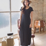 Polkadots MaxiDress สีดำ