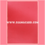 Standard Size Card Protector / Sleeve - Tranparent / Red Matte [Used] x3