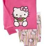 Baby Gap ชุดนอนแขน-ขายาว ลายคิตตี้ Kitty สีชมพู กางเกงเป็นแบบต่อก้น รุ่นนี้ผ้าดี นุ่มใส่สบายค่ะ size 18-24m, 2T, 3T, 4T, 5T ,6T