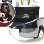 แว่นตาปั่นจักรยาน 100% Speedcraft Flat Gunmetal <Smoke short lens>