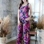 Flowers of the night Loose Jumpsuits