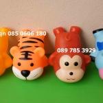 ตุ๊กตายางบีบของเด็กเล่น ลิง วัว เสือ หมี