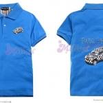 (เด็กโต) Paul Smith เสื้อโปโลสีน้ำเงิน เนื้อดี แนวสปอร์ต สกรีนลายรถที่อกและหลัง เรียบๆ หล่อ ดูดีค่ะ size 15, 17, 19, 21