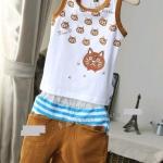 ชุดเซ็ทหนุ่มน้อย เสื้อกุดลายแมว น้ำตาล + กางเกงสีน้ำตาล ก้นหน้าแมว งานสวย คุณภาพดี น่ารักมากค่ะ size 5-13