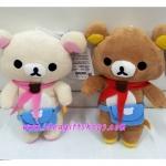 ตุ๊กตา หมีคู่ ลาย Rilakkuma (หมีน้ำตาล) และ Korilakkuma (หมีสีครีม) ขายเป็นคู่ ขนาด 9 นิ้ว