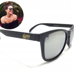 แว่นกันแดด Glassy Sunhaters Deric Black/Silver Mirror 54-18 140 <ปรอทเงิน>